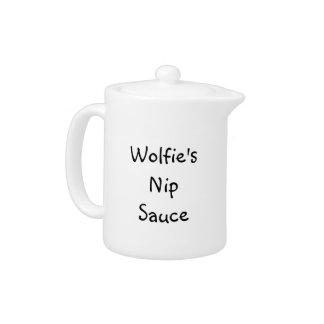 Pote de la salsa del pellizco de Wolfie