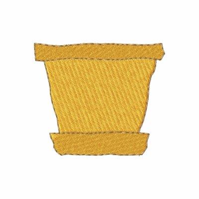 Pote de la terracota chaqueta bordada