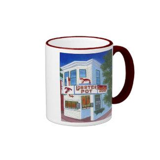 Pote de langosta taza de café