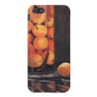 Pote de melocotones de Claude Monet iPhone 5 Protectores