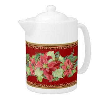 Pote de oro del té del oro del cono del pino del P