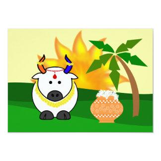 Pote de Pongal, vaca, e invitación del árbol