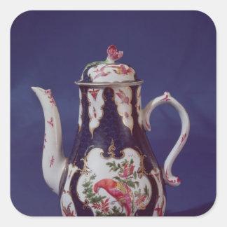 Pote del café de Worcester, adornado con los Pegatina Cuadrada