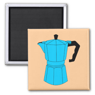 Pote del café del café express de Moka Imanes De Nevera