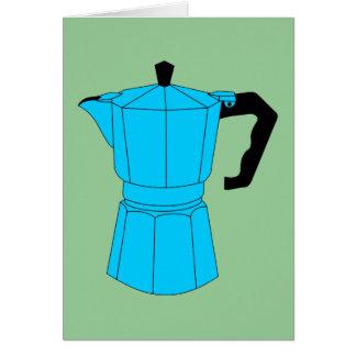 Pote del café del café express de Moka Tarjeta De Felicitación