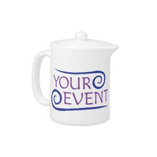 Pote del té con el logotipo de encargo del