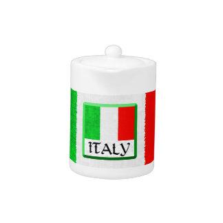 Pote del té de la BANDERA de ITALIA