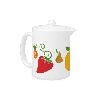 Pote del té de la fruta