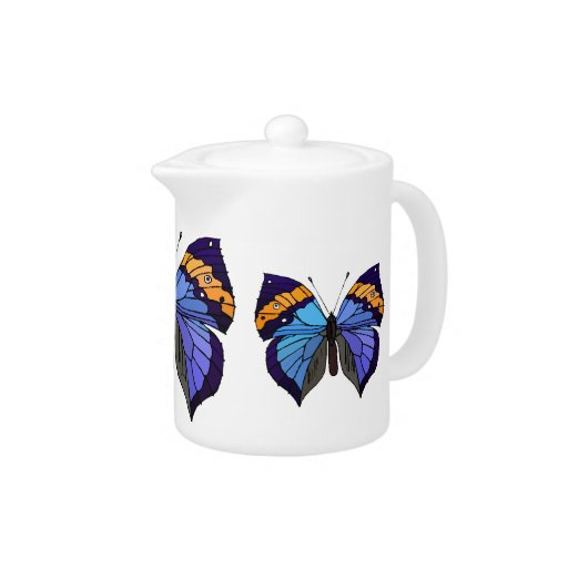 Pote del té de la mariposa