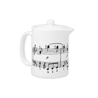 Pote del té de las notas musicales