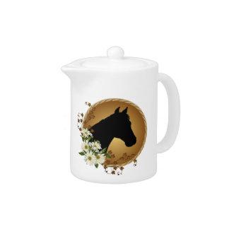 Pote del té de los amantes del caballo