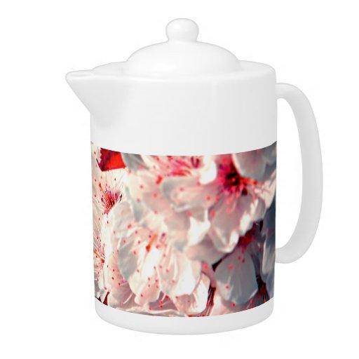 Pote del té de los flores de Apple