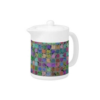 Pote del té de los PUNTOS Y de los CUADRADOS
