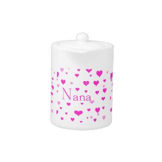 Pote del té de Nana del corazón I