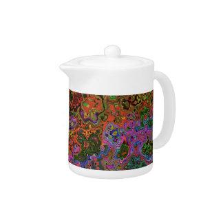Pote del té del CAOS del COLOR
