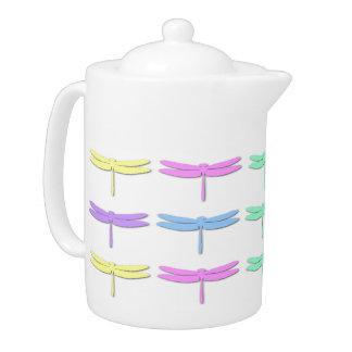 Pote en colores pastel del té del modelo de la