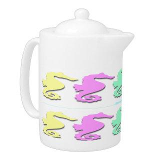 Pote en colores pastel del té del modelo del