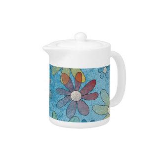 Pote floral del té de la explosión
