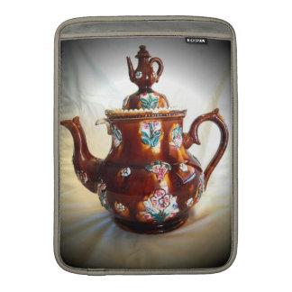 Pote inglés antiguo adornado de lujo del café de l funda macbook air