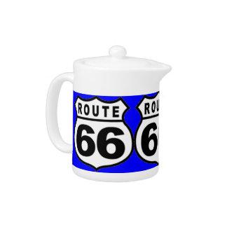 Pote retro del té de la ruta 66