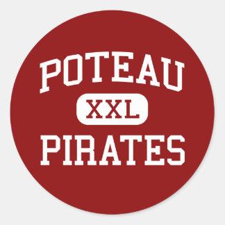 Poteau - Pirates - High School - Poteau Oklahoma Classic Round Sticker