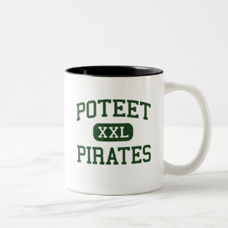 Poteet - piratas - High School secundaria - Mesqui Taza Dos Tonos