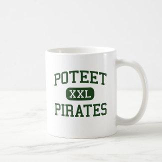 Poteet - piratas - High School secundaria - Mesqui Taza Básica Blanca