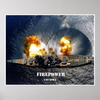 Potencia de fuego póster