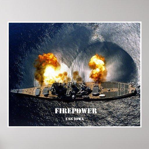 Potencia de fuego posters