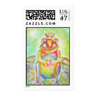 """Potential"" Frog Prince Art Postage"