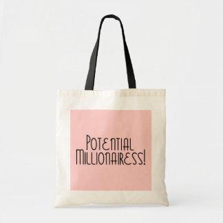 Potential Millionaire / Millionairess! Budget Tote Bag