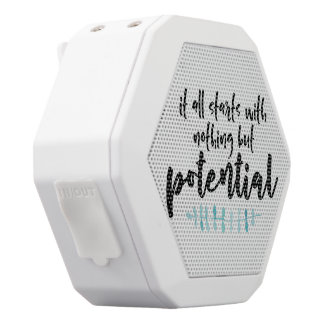 Potential Quote White Bluetooth Speaker