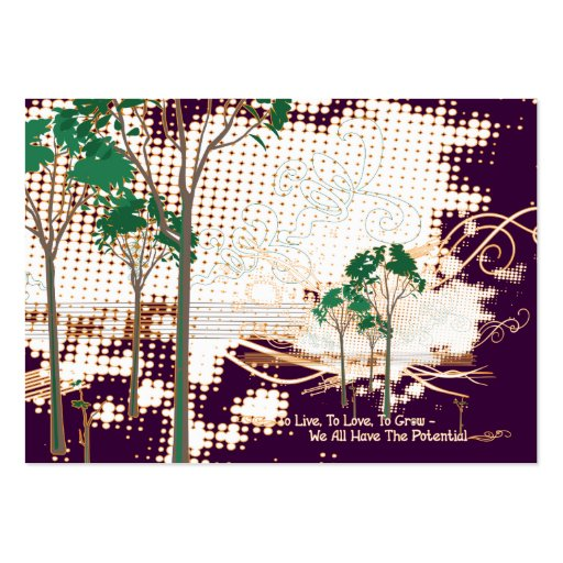 Potential Trees Biz Cards Large Business Cards (Pack Of 100)