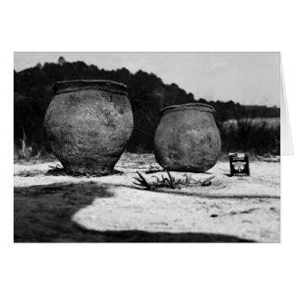 Potes de arcilla antiguos, México meridional Tarjeta De Felicitación