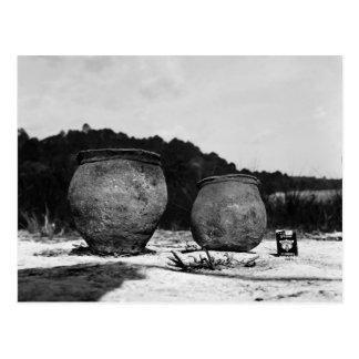 Potes de arcilla antiguos, México meridional Postal