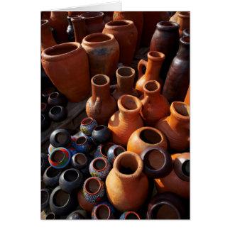 Potes de arcilla, Hazyview, Mpumalanga, Suráfrica Tarjeta De Felicitación