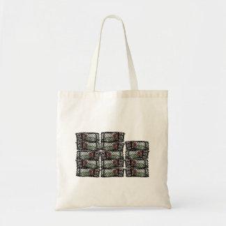Potes de cangrejo comerciales bolsa lienzo
