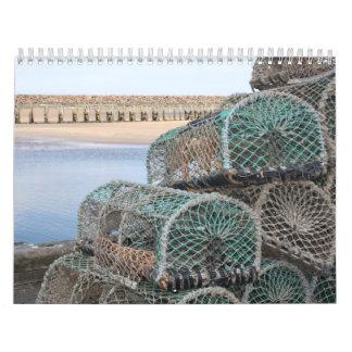 Potes de langosta en Whitby, calendario de Inglate