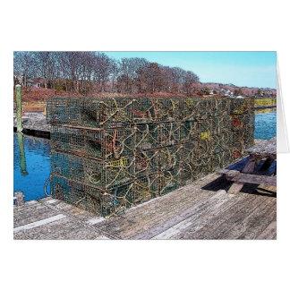 Potes de langosta, puerto de York, Maine Tarjetón