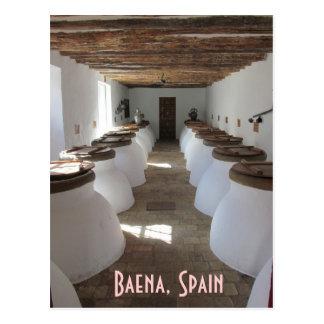 Potes del aceite de oliva en Baena, España Postales