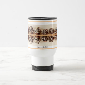 Potes reflejados taza de café