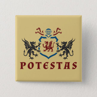 Potestas Dragon Blazon Pinback Button