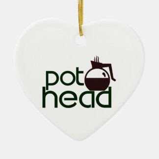 Pothead Adorno Navideño De Cerámica En Forma De Corazón