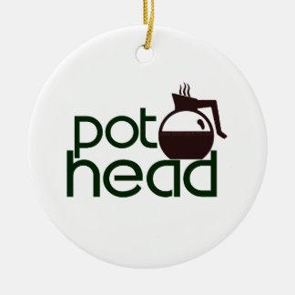 Pothead Adorno Navideño Redondo De Cerámica