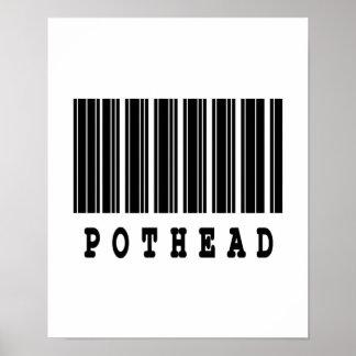 pothead barcode design poster