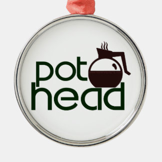 Pothead Metal Ornament