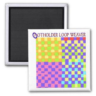 Potholder Weaving 2 Inch Square Magnet