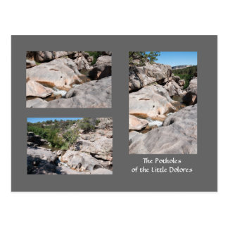 Potholes of the Little Dolores River Postcard