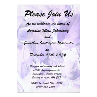 "pothos inverted plant blue purple 5"" x 7"" invitation card"