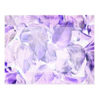pothos inverted plant blue purple letterhead design